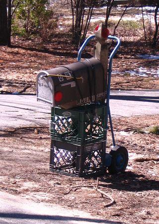 Milk crate mailbox 040311