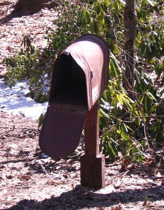 Dinosaur rusty mailbox 040311