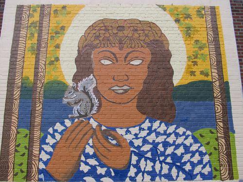 Woman squirrel mural 080611