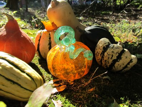 Orange glass pumpkin 2011