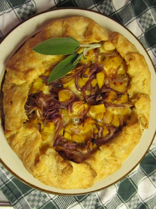 Squash onion galette 112311