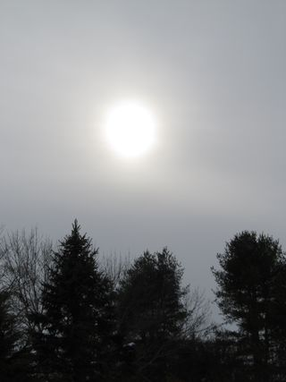 Sun through clouds 022014