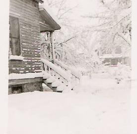 Negaunee porch snow