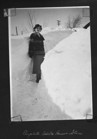 Adella in the Snow